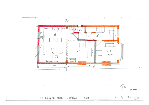 B08 Church Hill Proposed Ground Floor plan